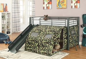 7470 Camouflage Tent Bed