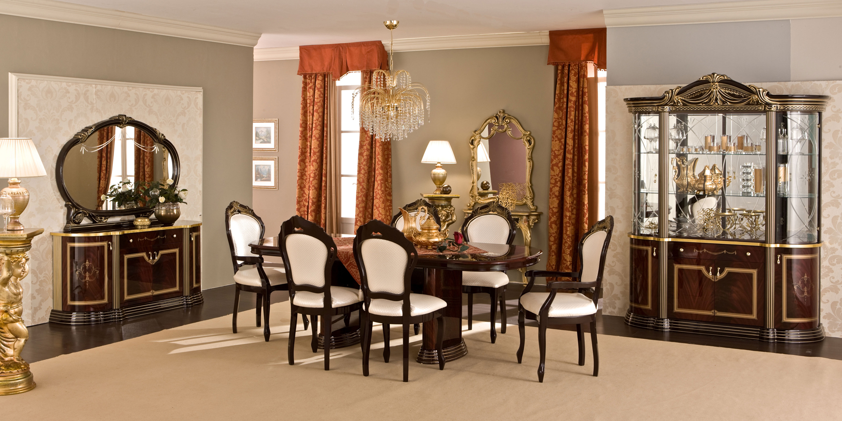 Luxor Day Mahogany 5pc Dining set & Luxor Day Mahogany 5pc Dining set - $3099.00 : SA Furniture San ...