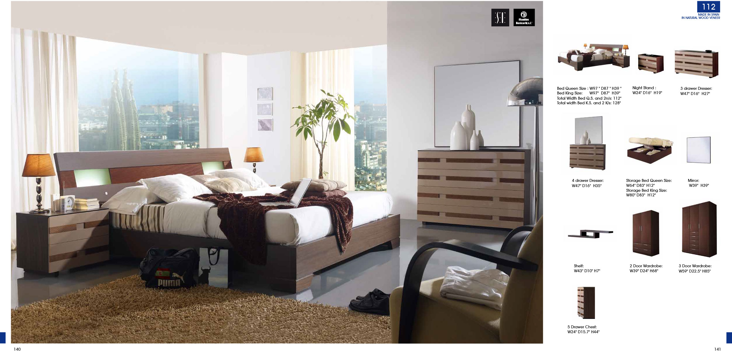 Superieur 112 Bedroom 5pc Set